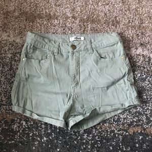 Green high waisted Charlotte Russe shorts